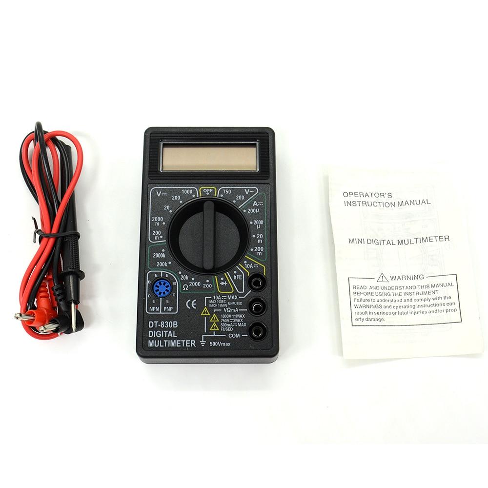Prix pour 10 pcs/lot AC/DC Ampèremètre Voltmètre Ohm Testeur Électrique Indicateur Professionnel Multimètre Numérique DT830B 10 pcs/lot Livraison Gratuite