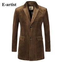 Mens Slim Fit Long Solid Velvet Blazer Jackets Causal Suit Outwearr Coats Overcoats Plus Size Wine