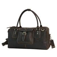 Big Size Top Quality Leather Men Bag Casual Retro Genuine Leather Travel Bag Fashion Trend Handbag