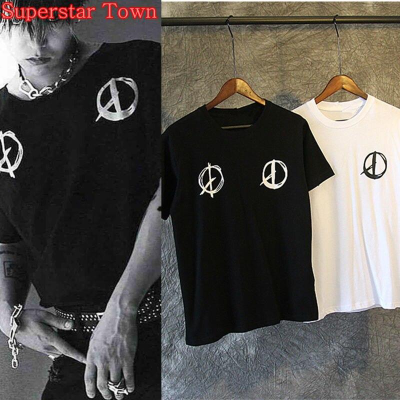 Bigbang Gdragon GD Tops Kpop Shirt Korea Style Harajuku Shirt Cool Summer Women T-shirt 2017 Superstar Town
