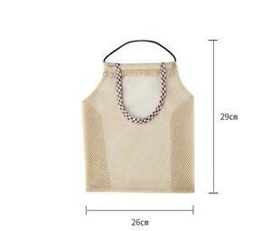 Image 2 - Produtos de mercearia reutilizáveis sacos de algodão malha ecologia mercado corda rede sacola de compras cozinha frutas legumes saco de suspensão