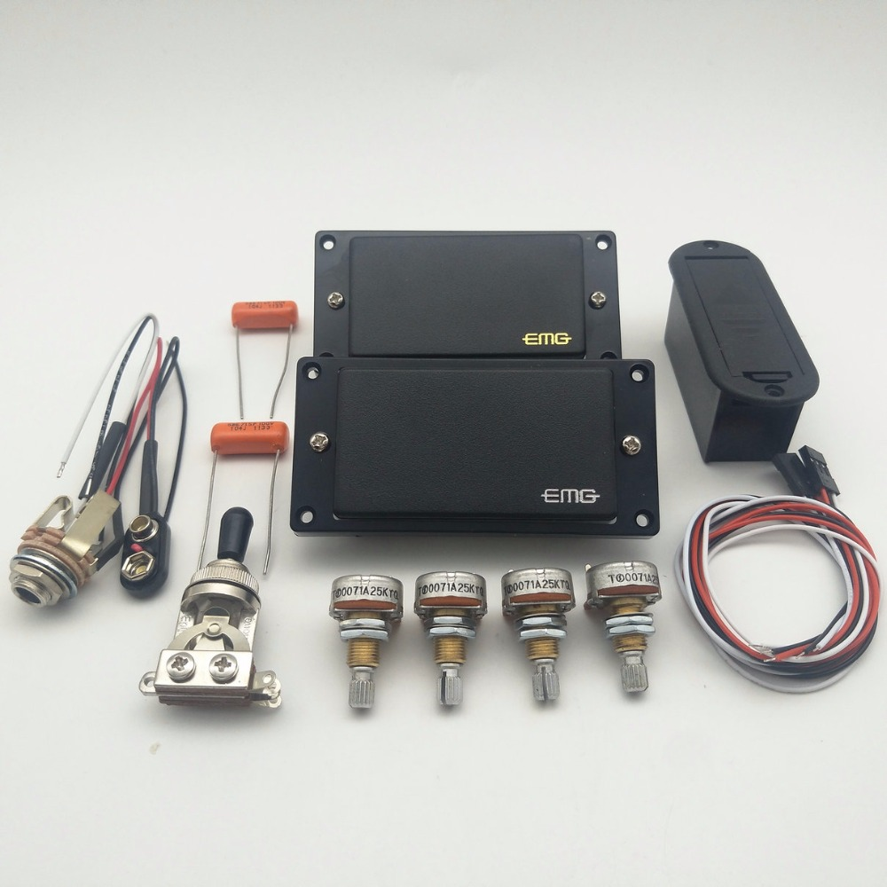 medium resolution of emg 81 85 active pickup electric guitar pickups with 25k potentiometer parts black 1 set