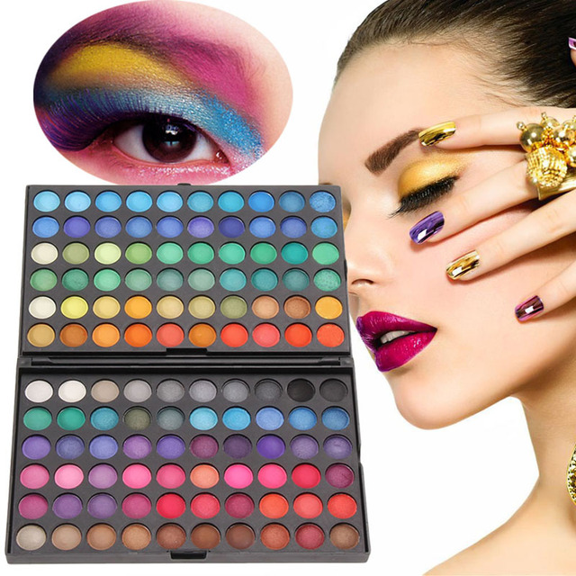 Professional 120 Colors Eye shadow Concealer Palette Shimmer Matte Eye Shadows Maquiagem Cosmetic Shadows