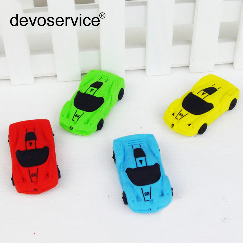Korean Creative Colorful Realistic Sports Car Eraser Removable Car Modeling Rubber Learning Stationery Office School Supplies
