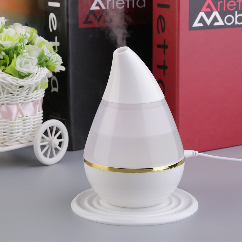 ICOCO 250ML Mini Ultrasonic Humidifier USB Essential Oil Diffuser Air Purifier LED Aroma Atomizer Moisturizing Mist Maker Fogger