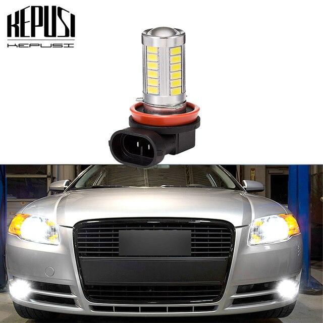 1PC H11 LED Fog lamp 5630 CANBUS 12V light For MK3 MK4 Lavida Sagitar Touarge Touran Passat B7 Magotan Jetta2 Golf Phaeton