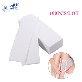 100pcs With special thick non-woven depilatory wax hair removal Waxing wax paper for paper white hair removal wax for depilation