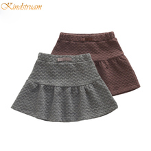 2016 New Arrival Girls Autumn & Winter Solid Knitted Skirts Kids Casual Bow Skirt Children Korean Style Brand Clothes , LC733