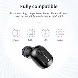 Image 5 - Baseus Bluetooth 5.0 słuchawki bezprzewodowe słuchawki Bluetooth dla iPhone Samsung Xiaomi zestaw głośnomówiący słuchawki sportowe słuchawki douszne