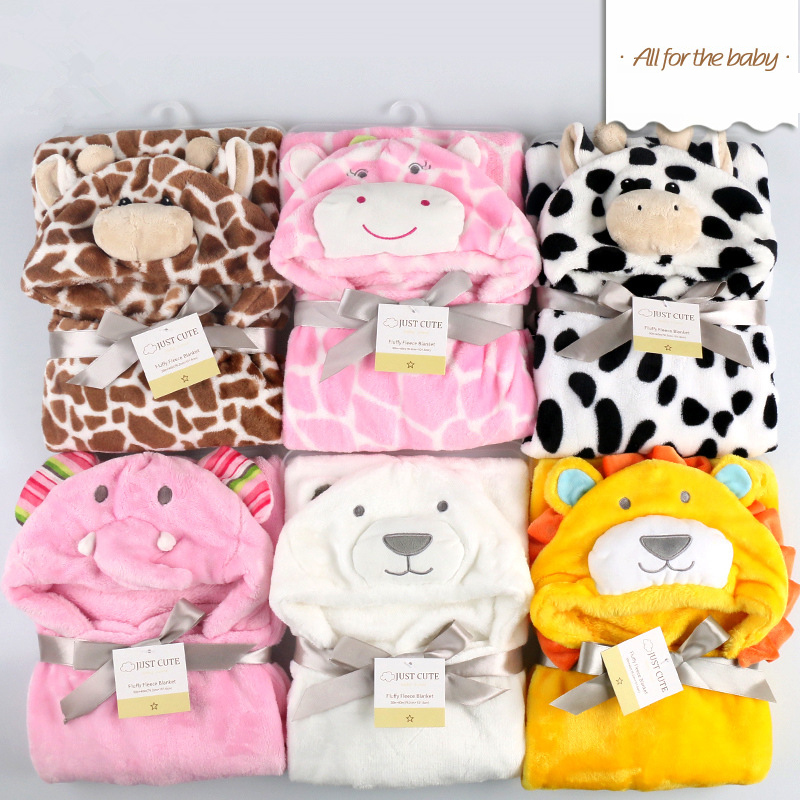 Baby blanket 3 d cartoon modelling cloak carpet baby blanket, the spring and autumn period and the package is children