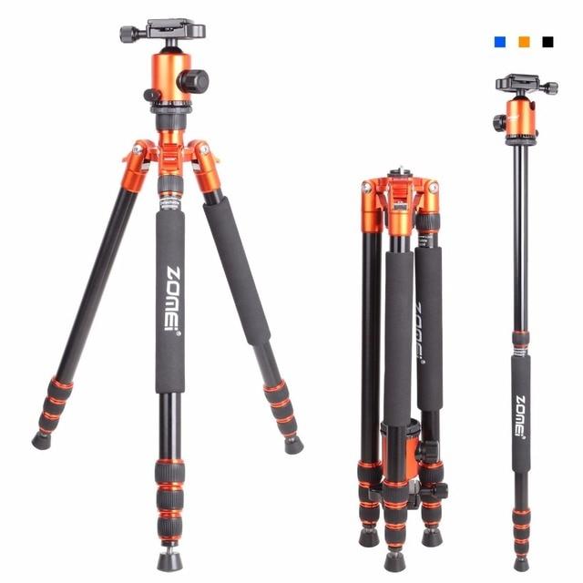 Zomei Z818 נייד מקצועי אלומיניום נסיעות מצלמה חצובה עם שחרור מהיר צלחת חדרגל גמיש חצובה רגליים