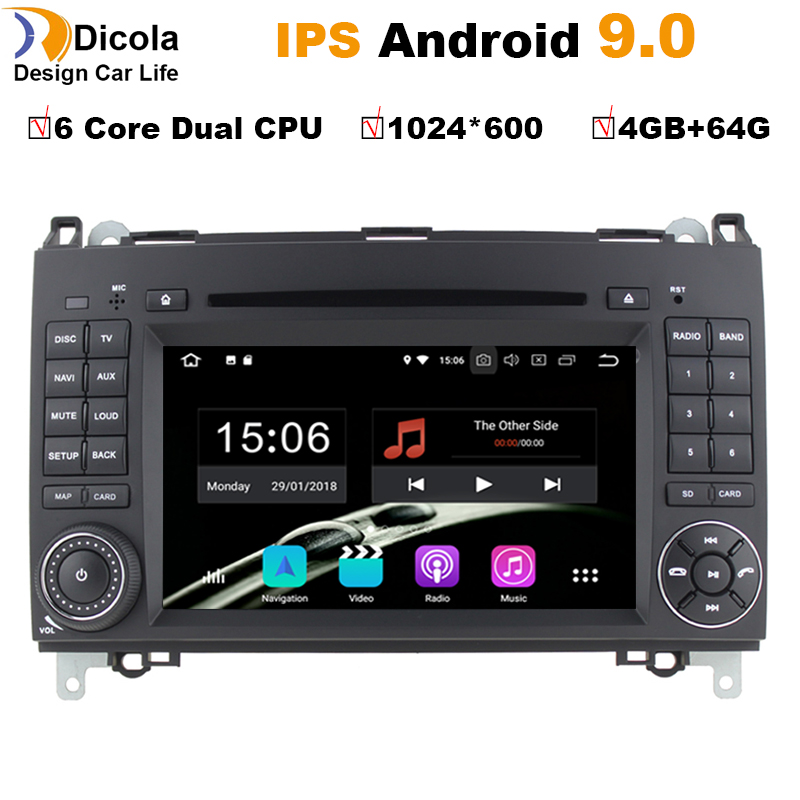 HD Android 9 0 For Mercedes Benz Sprinter B200 W209 W169 W245 B170 Vito W639 two