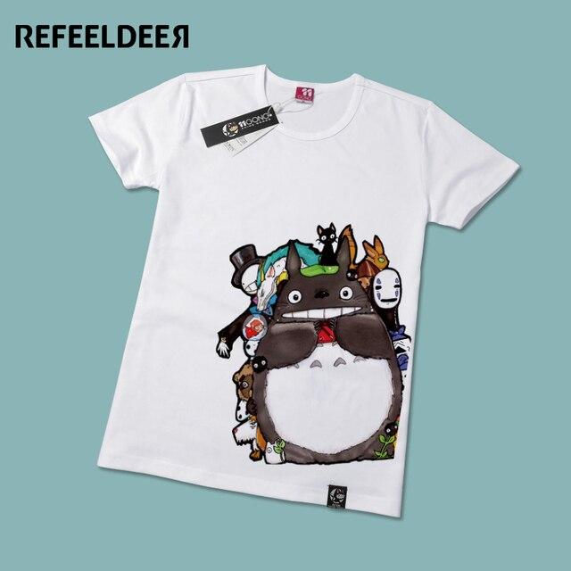 Refeeldeer Japanese Anime Totoro T-Shirt Female 2017 Summer Short Sleeve T shirt Women Tshirt Graphic Tees Tops Tee Shirt Femme