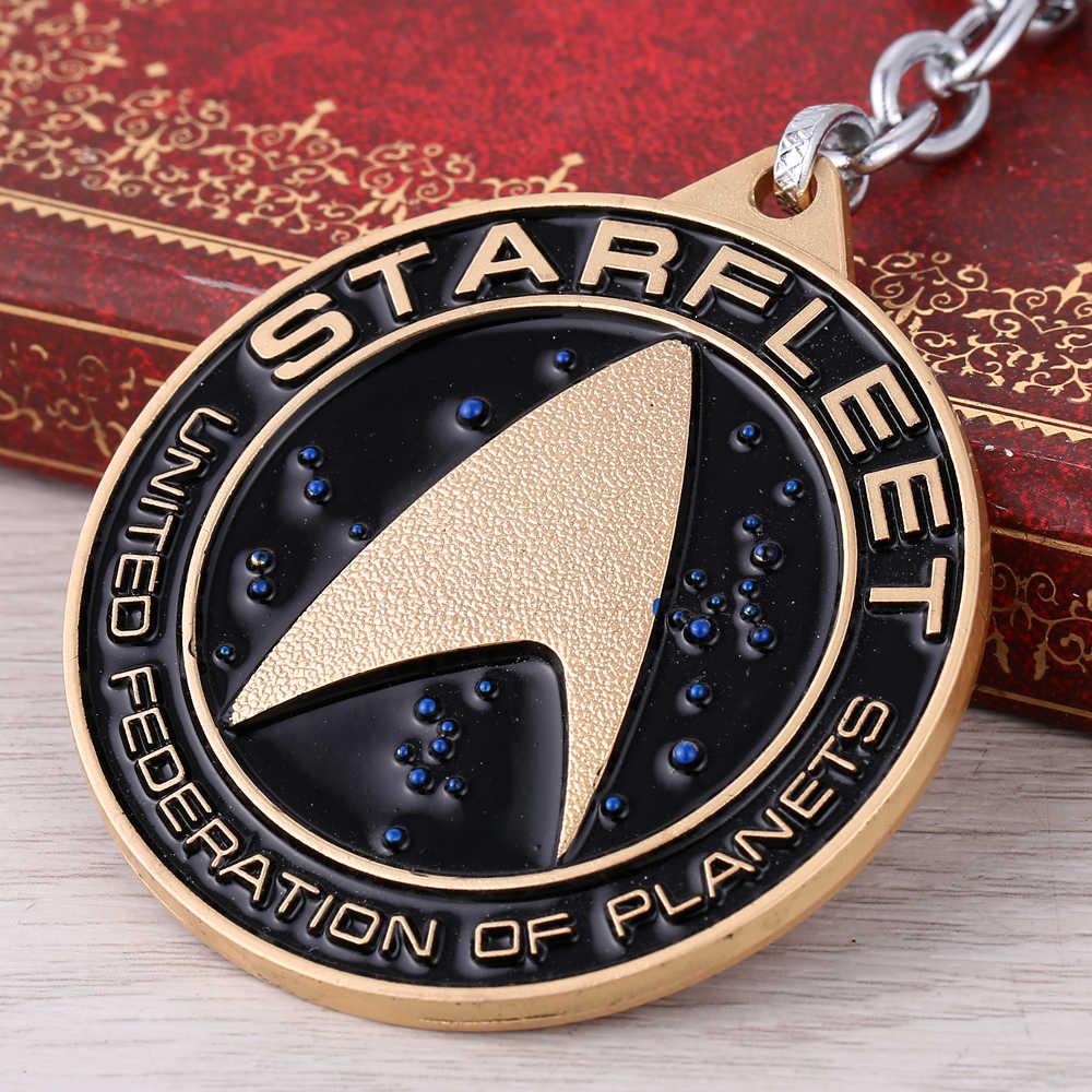 O HOT Moive estrela Nave Espacial da frota liga de prata metal keychain pingente, chaveiro carro Chaveiro para homens Frete Grátis