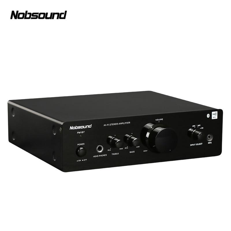 Nobsound PM1 Bluetooth 20W small home audio Amplifier pure HIFI 2.0 household mini desktop digital amplifier