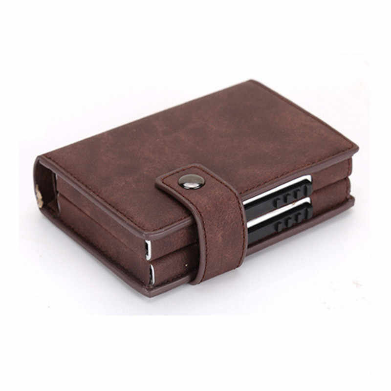 Bisi Goro 2020 Aluminium Wallet Credit Card Holder Metal Met Rfid Blocking Multifunctionele Portemonnee Reizen Metal Case
