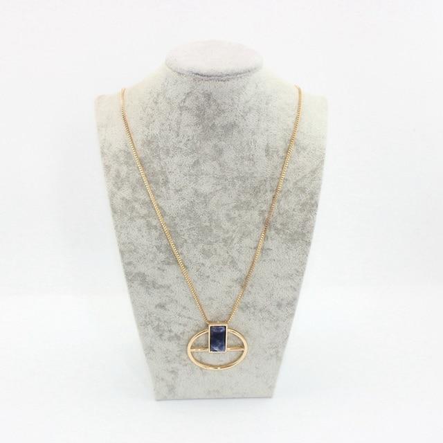 Женское винтажное ожерелье цепочка chicvie длинное с натуральным