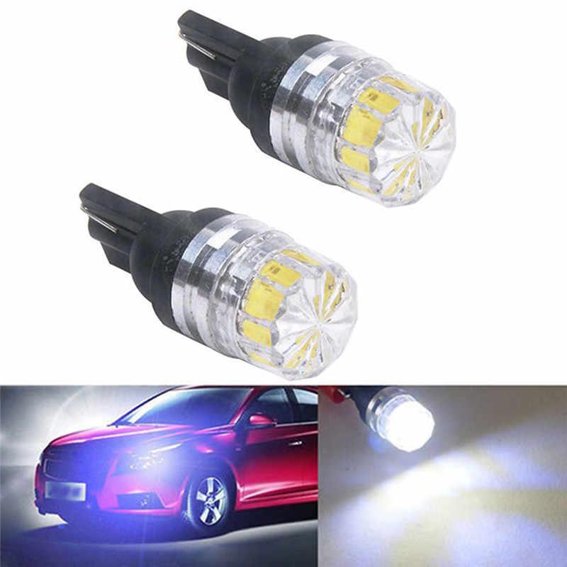 Nouveau 2 pièces haute qualité faible consommation d'énergie haute luminosité T10 5050 5SMD LED voiture véhicule côté feux arrière ampoules lampe blanc #266636