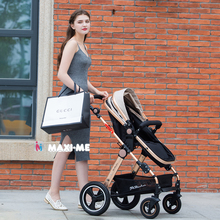 Newborn Baby Stroller 3 2 in 1 High Views Pram Foldable 4 Wheels Travel System Carriage Carrinho-de-bebe 3 2 em 1 Cochecito