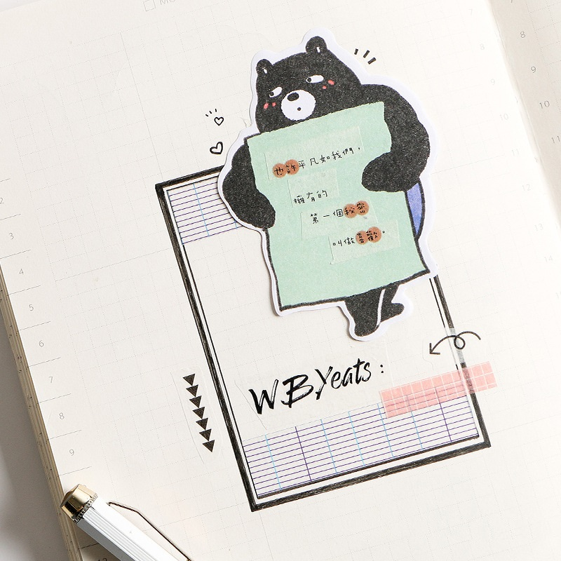 4 pcs super animal memo pad sticky note post paper Planner sticker book Stationery Office School supplies <font><b>DM120</b></font> image