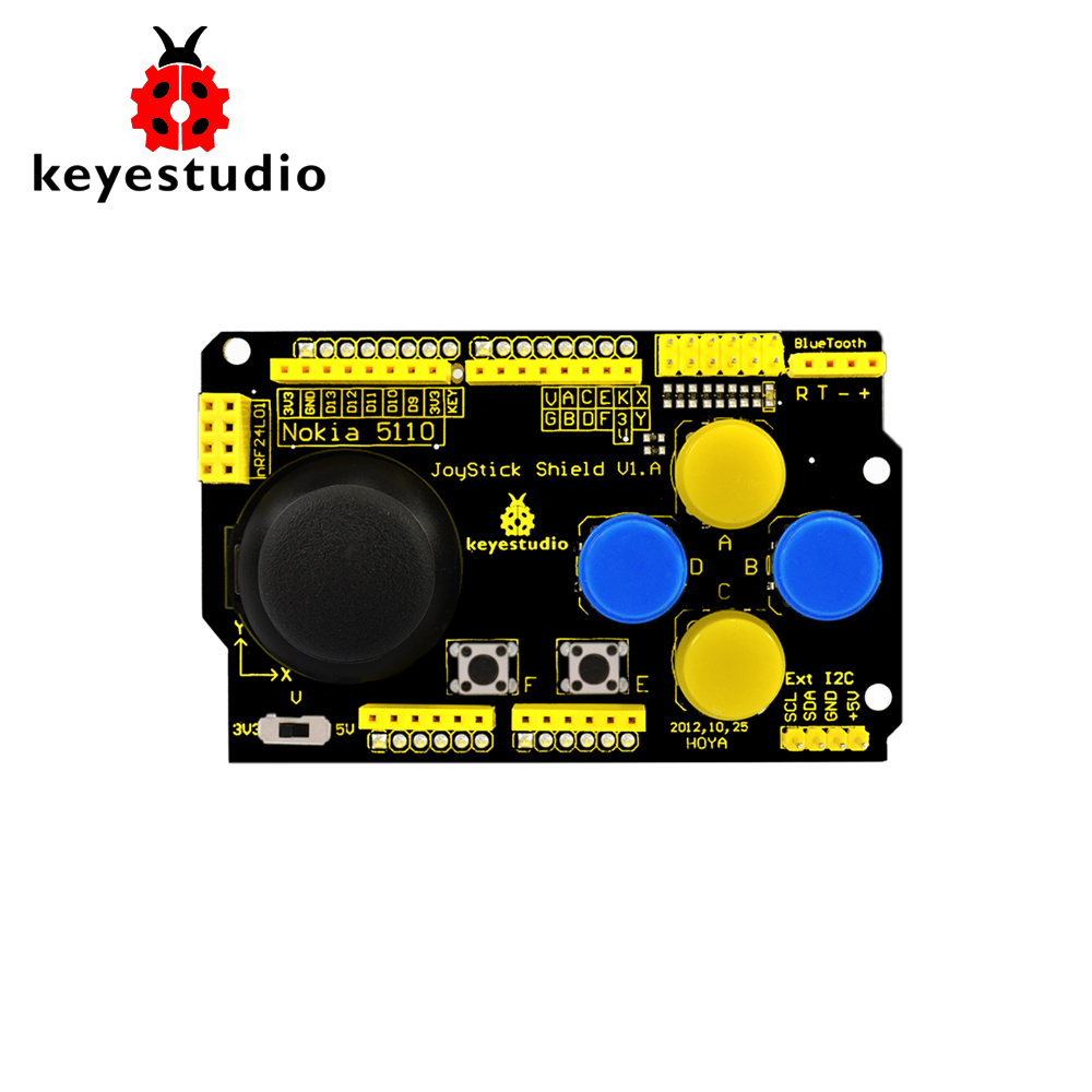 Keyestudio JoyStick P-S2  Shield V1.0 For Arduino NRF24L01 Nk 5110 LCD I2C