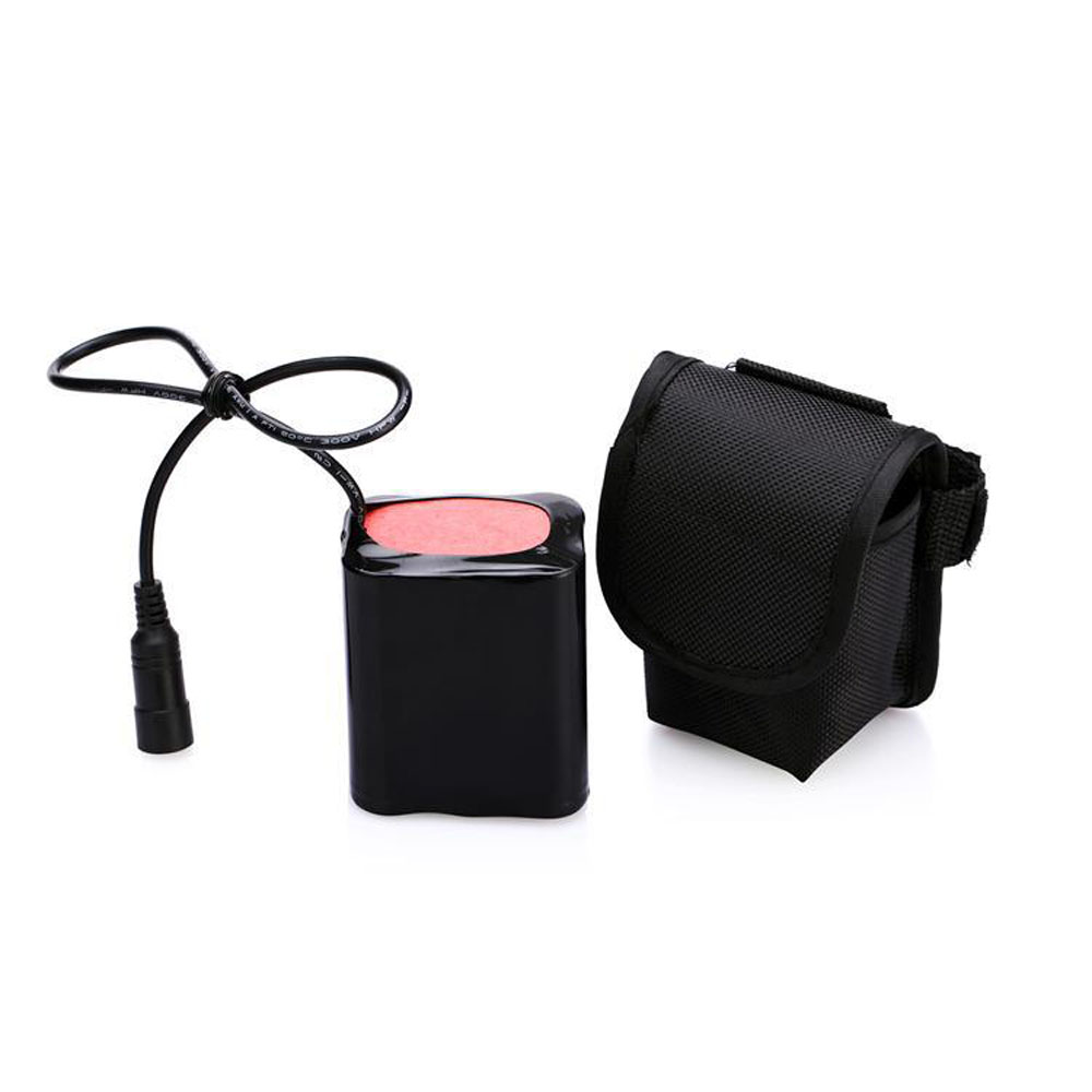 Large Capacity Waterproof Battery Pack Li-ion Rechargeable 8.4v 6 X 18650 Power Pack For Bike Headlight Bicycle Front Light Lamp