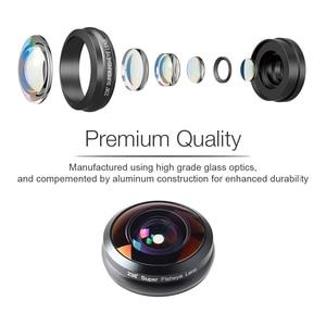 Image 4 - Apexel 電話レンズ 238 度スーパー魚眼レンズ、 0.2X フルフレーム超広角レンズ iphone 6 7 アンドロイド ios スマートフォン