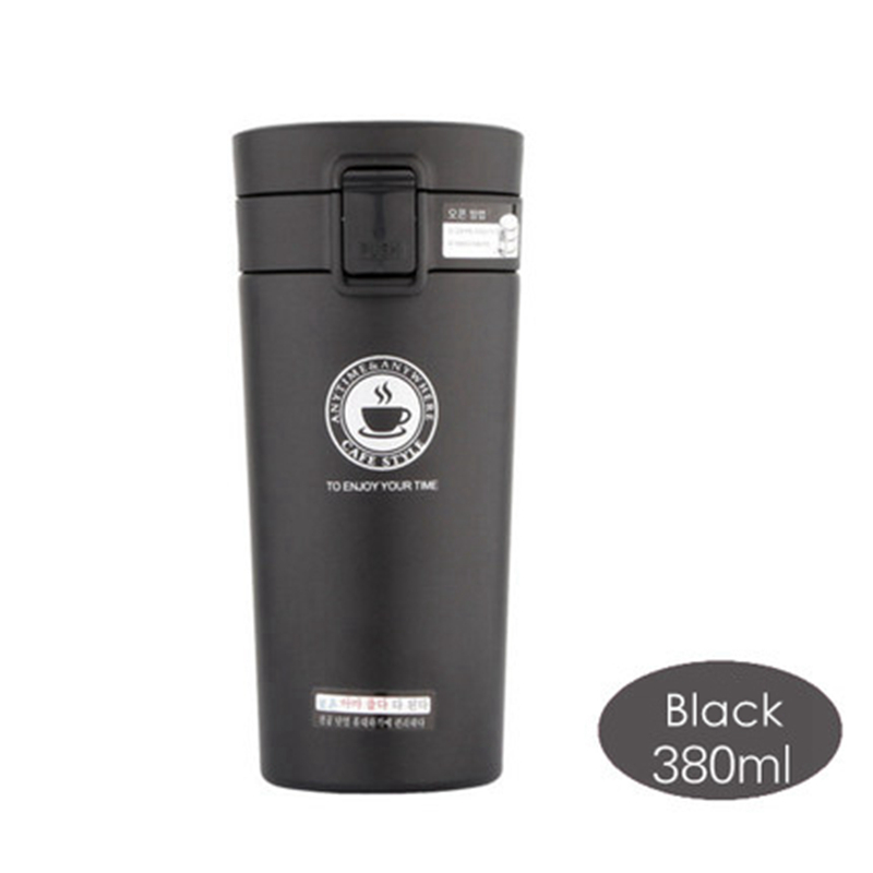 380ml Thermoses Cup Cafe Mate Stainless Steel Car Vacuum Flask Office Coffee Cup Vehicle Bottle Travel