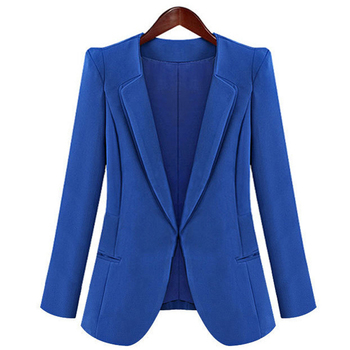 Autumn Womens Candy Color Outerwear Blaser Coat Lady Korean Slim Jacket Girls Casual Single Button Suit  Office Blazer
