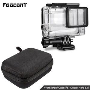 Image 1 - Водонепроницаемый чехол для корпуса камеры, маленькая коробка для хранения, жесткая сумка для Gopro Hero 6 5 4 3 3 + 5, чехол для подводной защиты