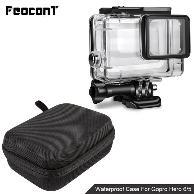 Водонепроницаемый чехол для корпуса камеры, маленькая коробка для хранения, жесткая сумка для Gopro Hero 6 5 4 3 3 + 5, чехол для подводной защиты