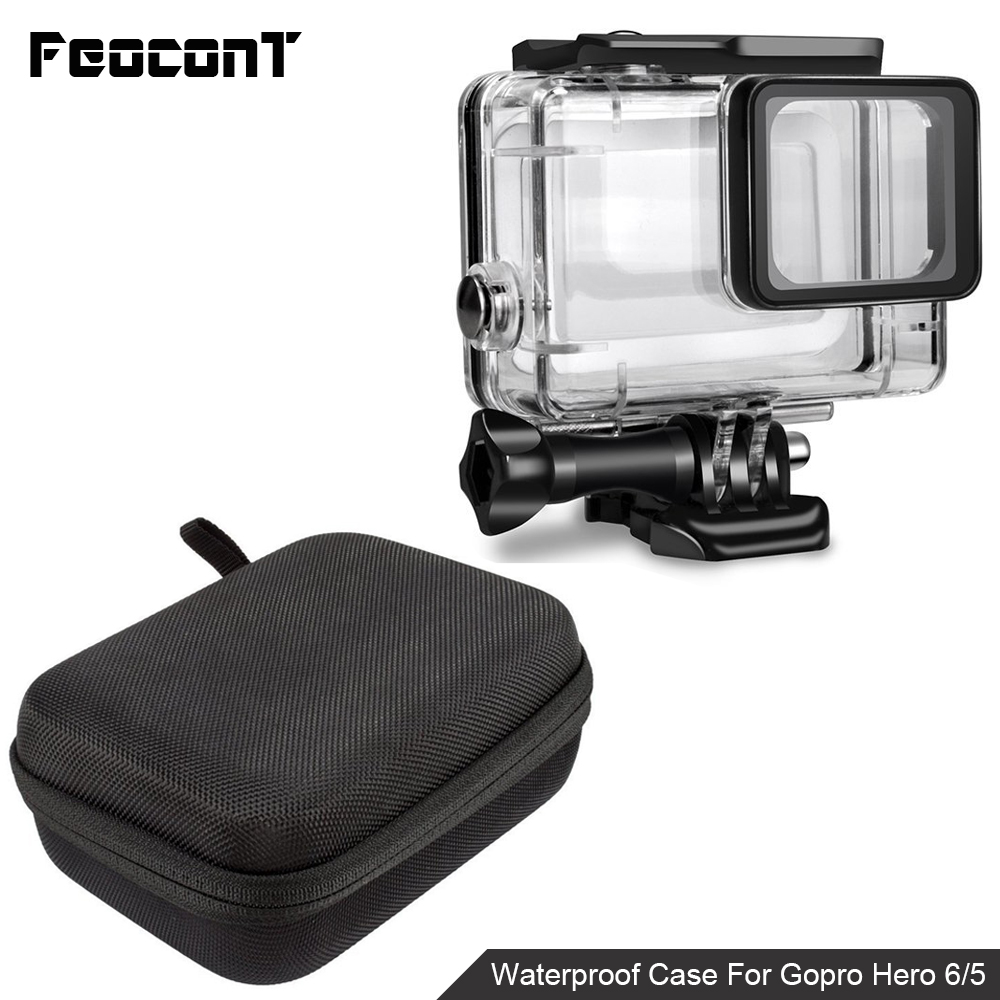 Waterproof Camera Housing Case Small Storage Box Hard Bag For Gopro Hero 6 5 4 3 3+ 5 Session Underwater Protector Case Cover-in Sports Camcorder Cases from Consumer Electronics