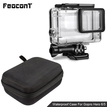 лучшая цена Waterproof Camera Housing Case Small Storage Box Hard Bag For Gopro Hero 6 5 4 3 3+ 5 Session Underwater Protector Case Cover
