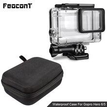עמיד למים מצלמה שיכון מקרה קטן אחסון תיבת קשה תיק לgopro גיבור 6 5 4 3 3 + 5 מושב מתחת למים מגן Case כיסוי
