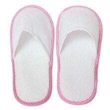 10 pares de Zapatillas de Hotel Desechables Terry Toalla Blanca Invitado Spa Zapatos