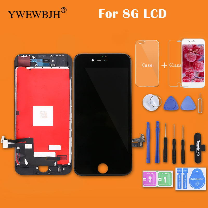 YWEWBJH 100% Grade AAA LCD Screen For iPhone 8 8G LCD Display with 3D Touch Screen Digitizer Assembly Replacement Repair Part