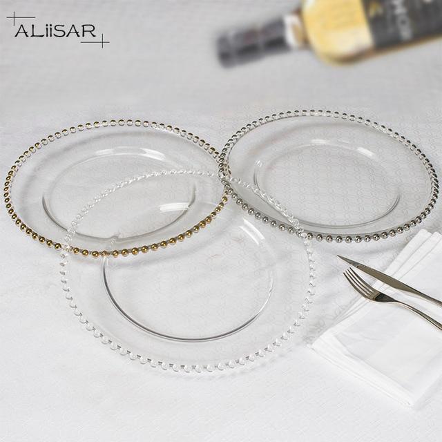 stunning Cheap Glass Plates In Bulk Part - 17: Hot sale wedding charger plates, glass plate ,charger plates wholesale