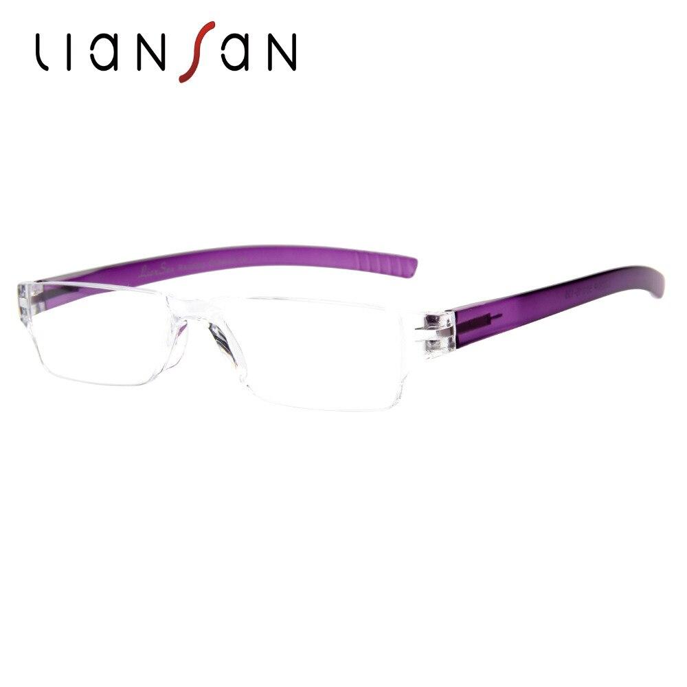 d309639a4eb4 LianSan Vintage Retro Rimless Plastic Lightweight Reading Glasses Women Men  Brand Designer Presbyopic Hyperopia Portable L2220