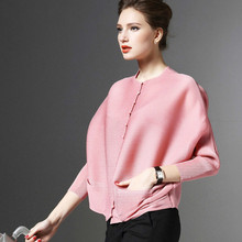 LANMREM Woman Blouse Pleated-Clothing Long-Batwing-Sleeve Shirt New-Fashion SA566 O-Neck