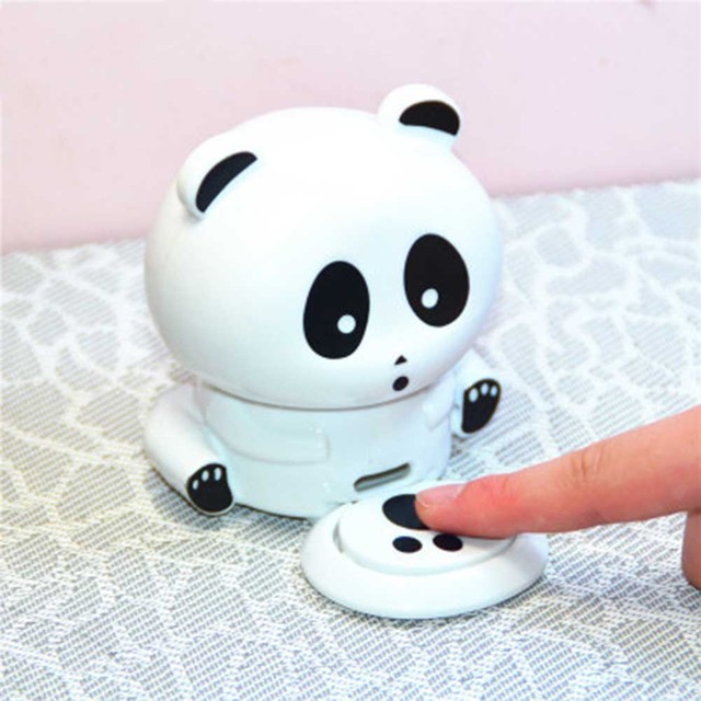 Cute Panda Nail Dryers Hand Quick Blow Dryer Blower Manicure Air Lamp Dry Battery