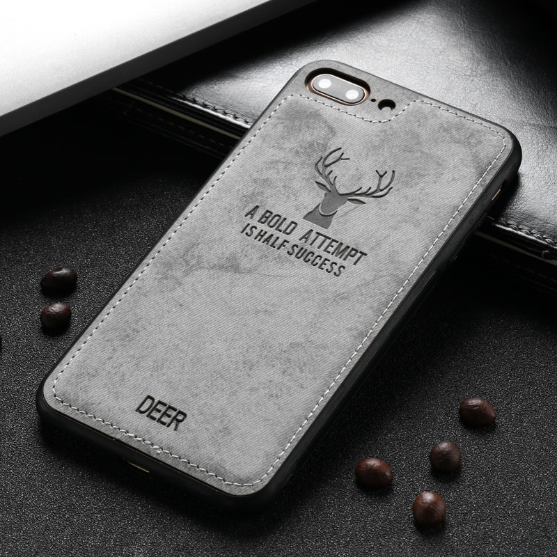 Caynes Business Case For iPhone 7 Plus Case Ultra-thin Canvas Cover For iPhone 7 Plus 5.5 inch Anti-knock Phone Cover