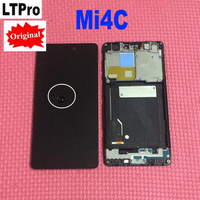 Black TOP Quality Full LCD Display Touch Screen Digitizer Assembly With Frame For Xiaomi Mi4c Mi