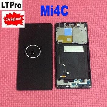 100% оригинал Новый Испытано рабочих сборка сенсорного экрана ЖК-дисплея и цифрового преобразователя с рамкой для Xiaomi Mi4C Mi 4c m4c телефон Запчас...