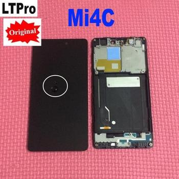 100% Original Novo Testado Trabalho LCD Screen Display Toque Digitador Assembléia com Frame Para Xiao mi mi mi 4c 4c peças de Telefone M4c