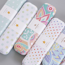JIANWU/Minimalism iron Tinplate creative stationery box tin pencil box Cartoon pencil case school student gifts(China)