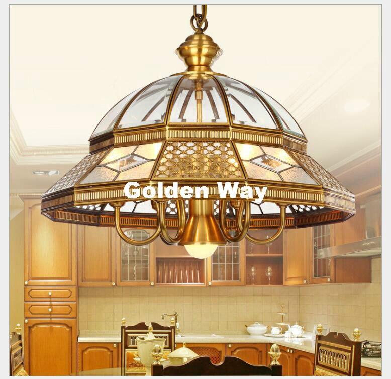 Bronze Pendant Glass Brass Pendant Lights Golden Brass Pendant Lamp With E27 Bulb 110V/220V Pendant Light Hanging Lamp Fixture pendant light modern design blue amber gray glass bulb included 110 220v free shopping pendant lamp