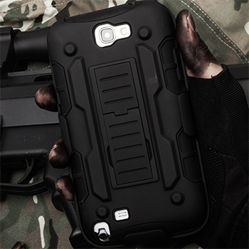 For Samsung Galaxy Note 2 Case, Rugged  Impact Hybrid Stand Hard Case for Samsung Galaxy Note 2 N7100 Cell Phone Cases Capa