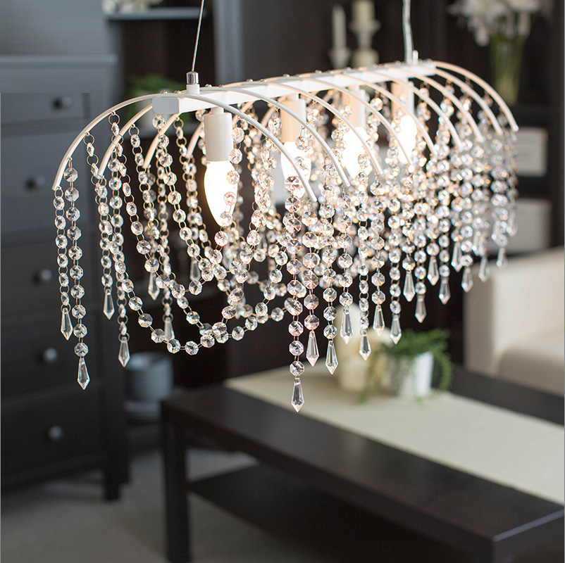 Crystal pendant light Restaurant Lamp Simple Modern Creative Dining Room European Style Personalized Led Lamp pendant lamp european restaurant crystal chandelier simple ball bedroom modern simple led creative living room lighting dining room