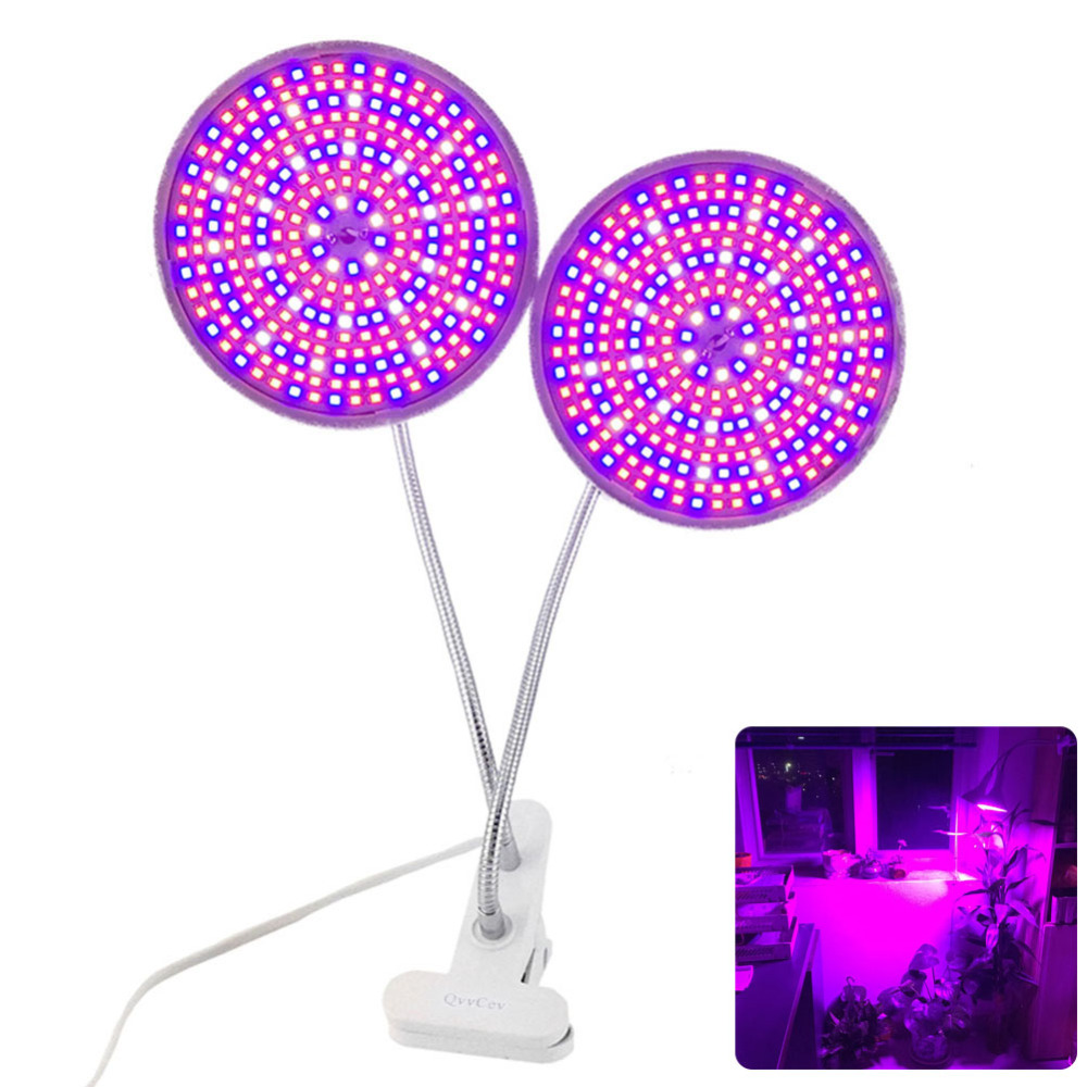 2018 Dual Head 290 GEFÜHRTE Anlage Wachsen Licht Lampe spektrum Schreibtisch Halter Clip Set Blumensamen für hydrokultur Innen gewächshaus