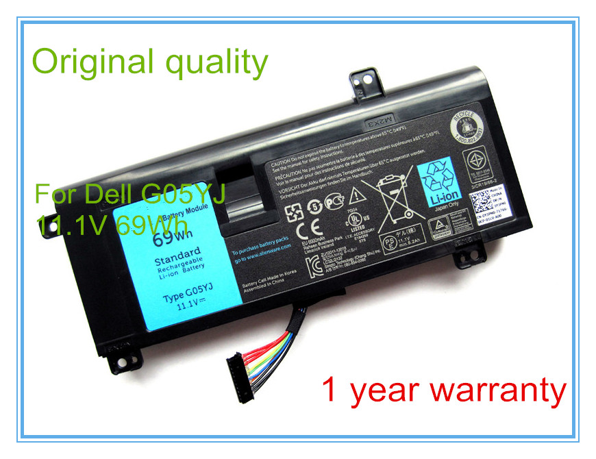 69wh Original Battery For 14 Series Laptop A14 M14x R3 R4 G05yj 0g05yj Y3pn0 8x70t Strong Packing